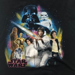 Star Wars Disney Graphic T- Shirt Small Black S